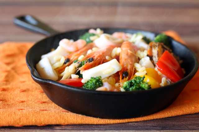 海鮮パエリアの簡単レシピ